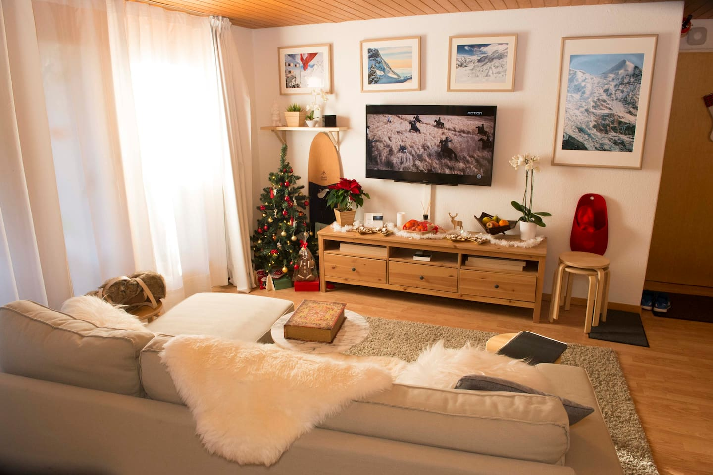Cozy living room with comfortable sofa