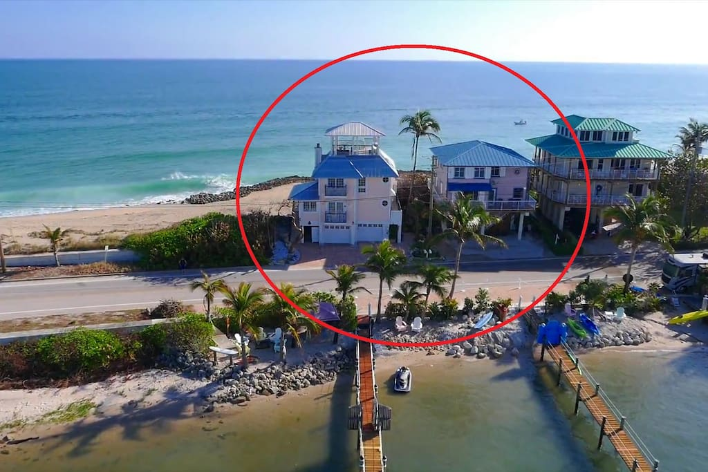 """Twin Beaches combines """"As Good as it Gets"""" with """"Heaven Can't Wait"""", at a discounted price.  For more pictures, details and reviews, see each home's individual AirBnB listing."""
