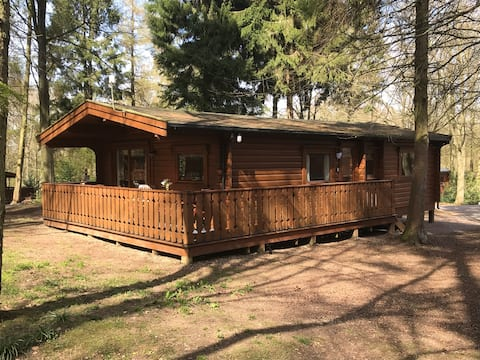 Primrose Lodge - Norwegian log cabin in woodlands