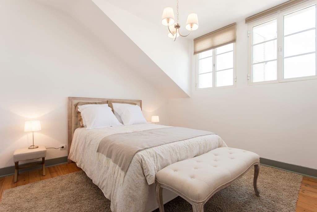 Bedroom #1 - spacious, comfortable, plenty of light
