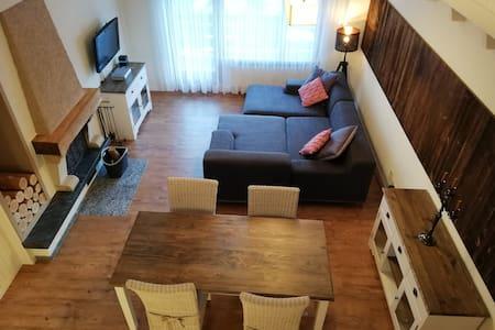 Schöne zentrale Wohnung mit Kamin Nähe Skilift