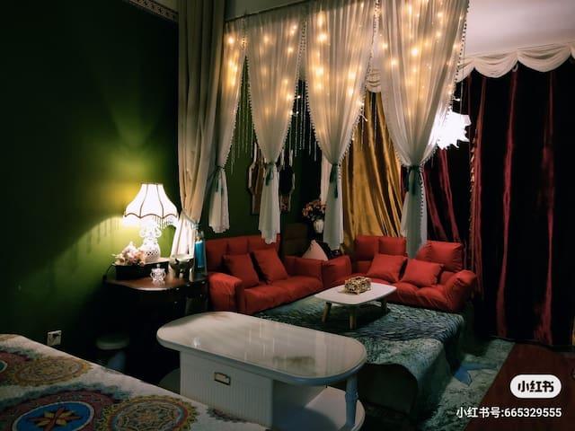 彩虹糖『绿野仙踪』,1.8米大床,浴缸,投影,大厨房,金沙城市广场,近火车站,泰华,风筝广场