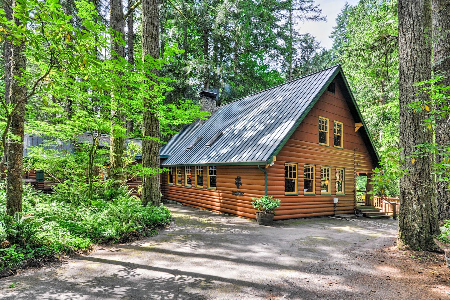 Escape to Mt. Hood and stay in this vacation rental cabin in Rhododendron.