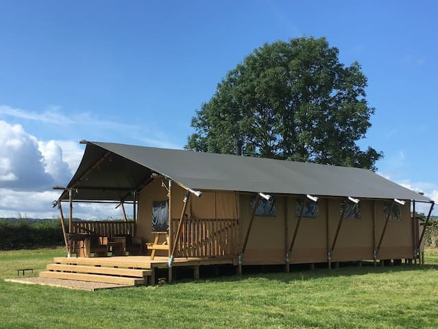 Grouse - Safari Tent - on our farm in Richmond