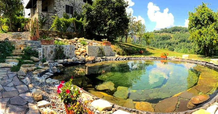 Stone Cottage with Natural Pool near Town &Train 4