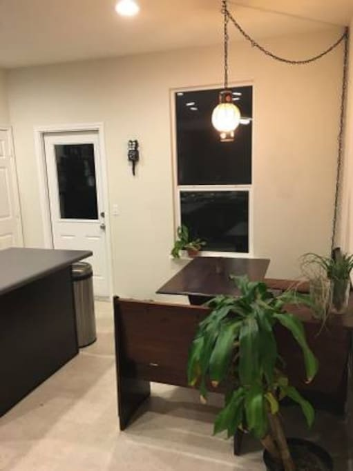 Kitchen, with table.