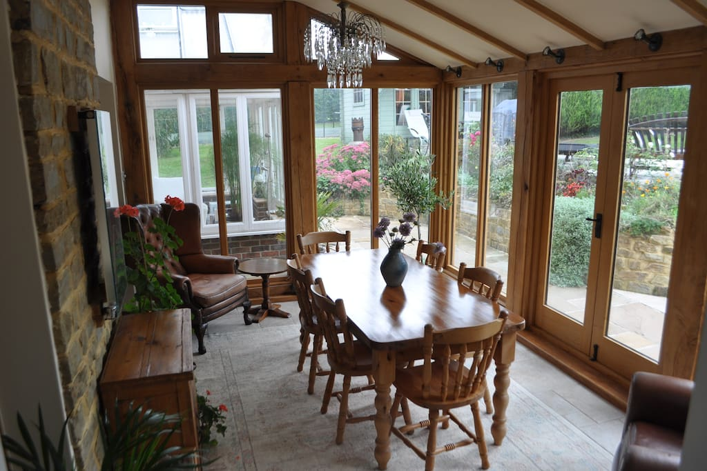 Oak framed breakfast room