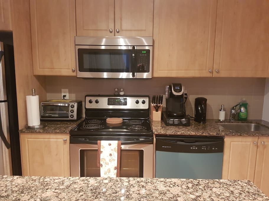 Fully functioning kitchen.