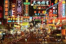 Wan Chai's Night. 五光十色的湾仔夜生活