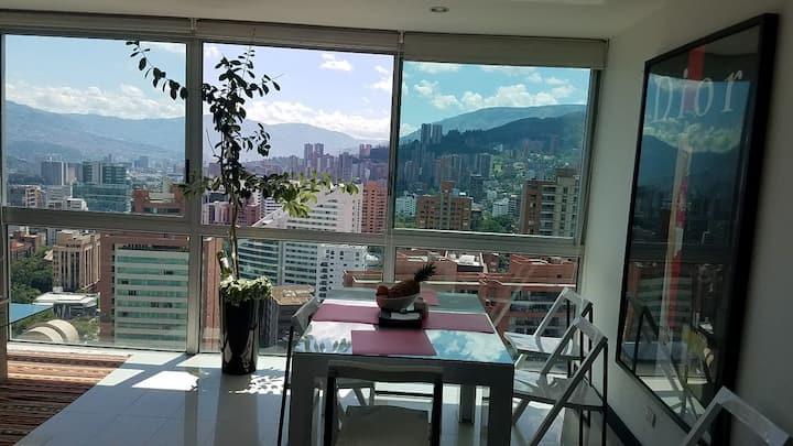 Beautiful 2BD/2BA condo - Amazing view en Medellin