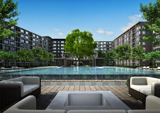 One Bed Room Apartment near Central Festival - Tambon Yu Wa - Apto. en complejo residencial