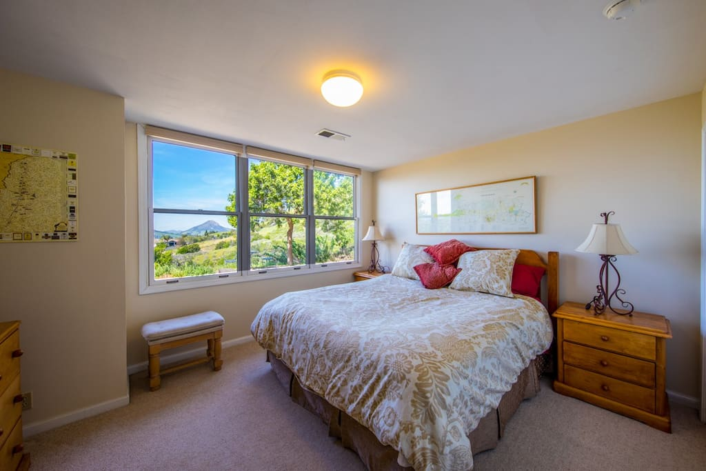King Bedroom is spacious with great views