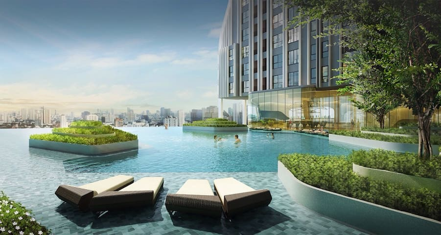 MAXIMUM,New design sky view @Mrt Samyan,BTS silom - กรุงเทพมหานคร - Huoneisto