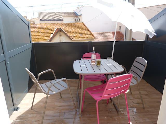 Studio meublé (n°2) - Valras-Plage - Apartment