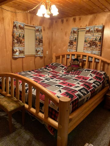 The master bedroom has a king bed for your comfort.