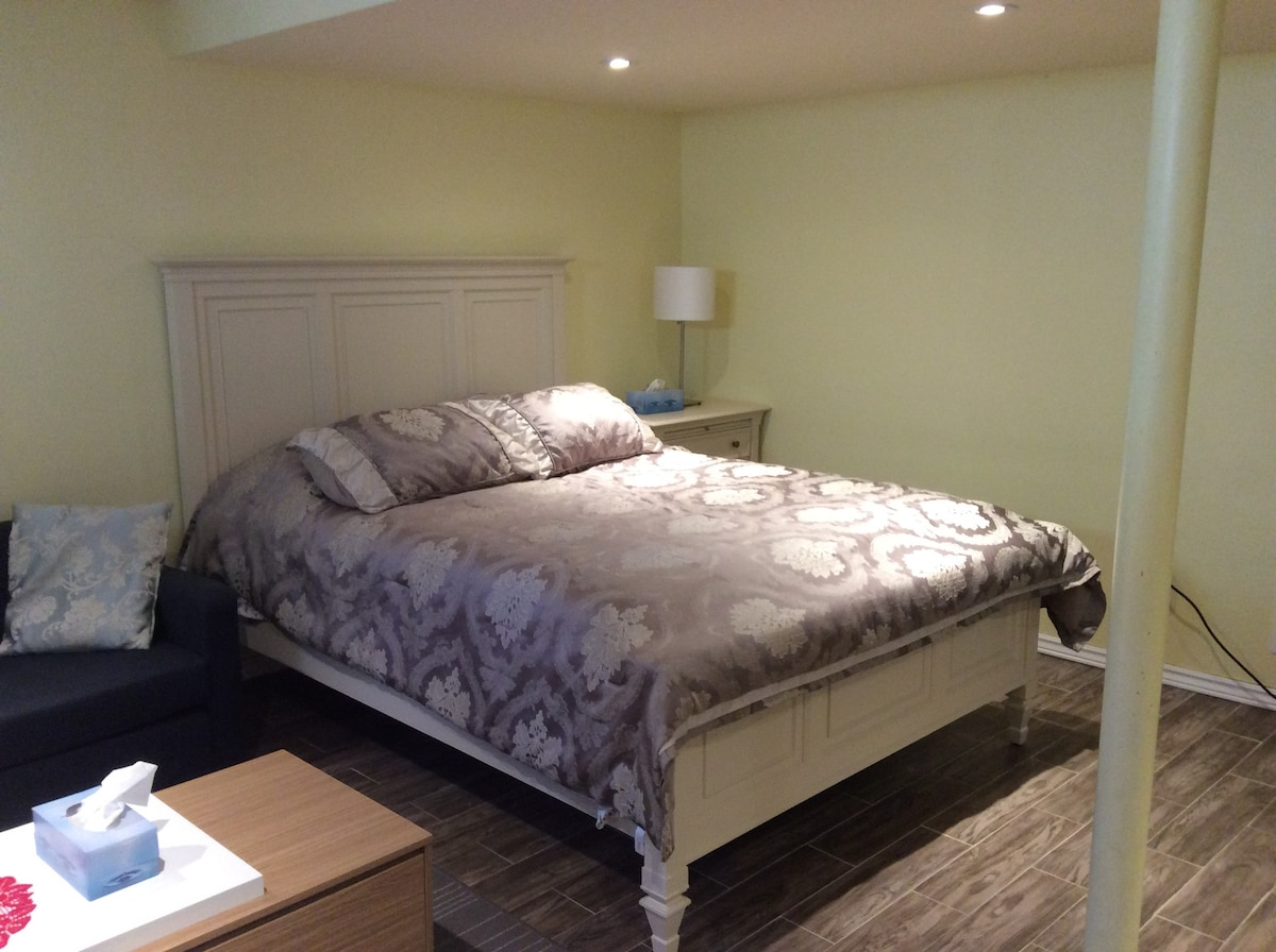 Basement Queen Size Bed.