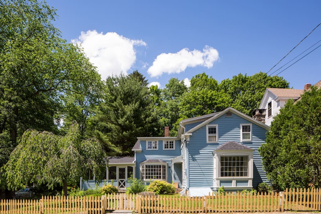 House located on corner lot in iconic Berkshire village