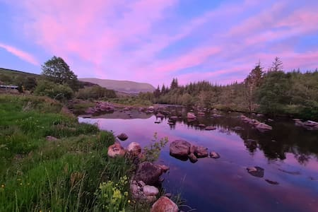 Views over the Black Water River  & of Ben Wyvis
