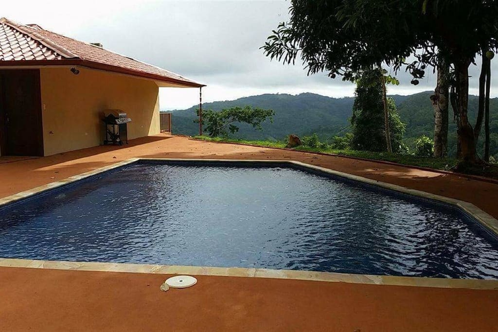 Large Pool & Patio with Ocean and Valley Views
