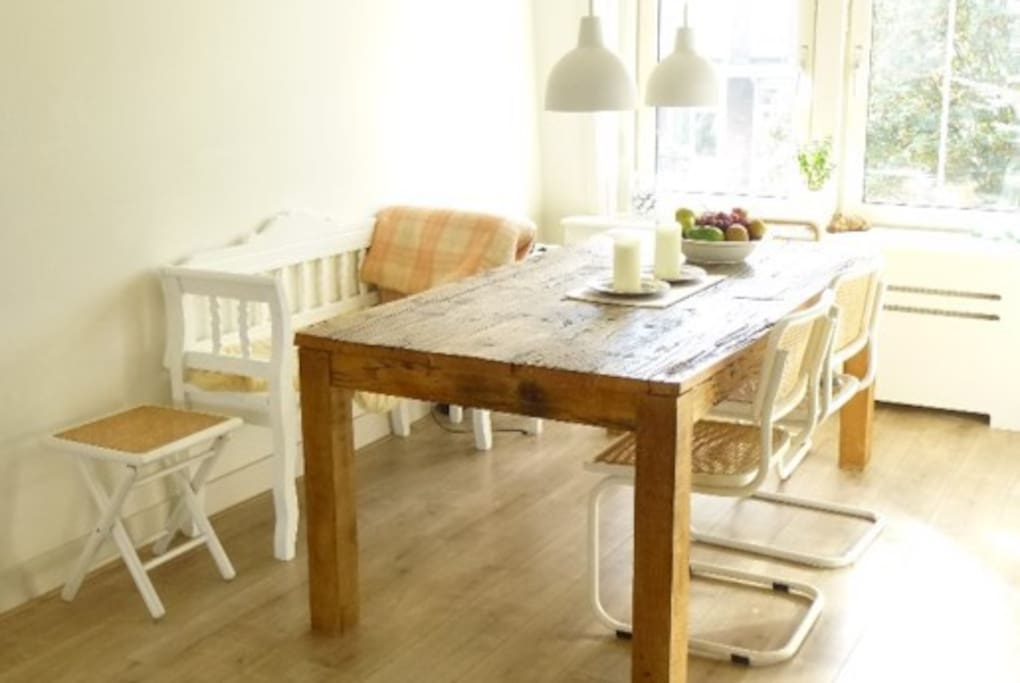 the kitchen - sunny & open space