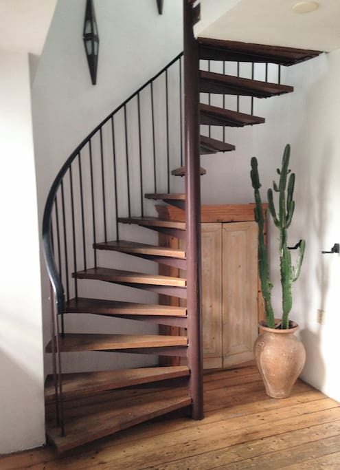 Stairs to the upstairs bedroom
