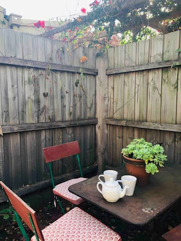 Little private courtyard lovely for a cup of tea or a glass of wine!