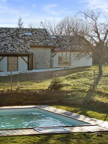 Countryside house with garden, pool - Agnac