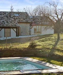 Countryside house with garden, pool - Agnac - Huis