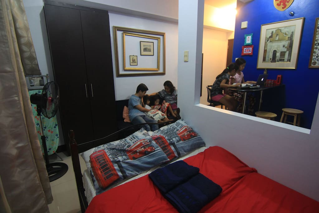 23 sq.m small studio ideal for 2 or a small family with 2 kids. 1 double size bed + sofa bed for kids.