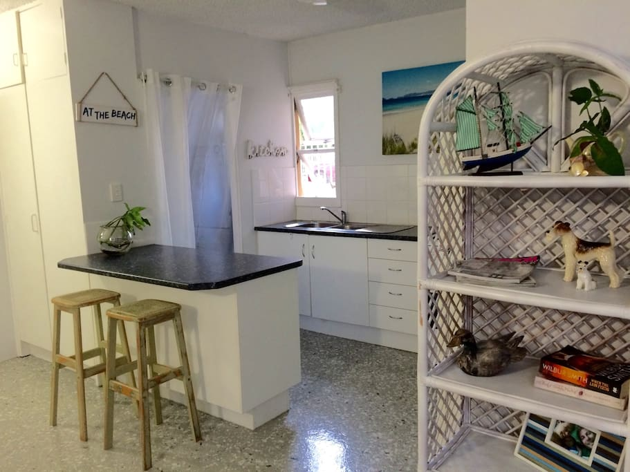 Fully functional kitchen and laundry