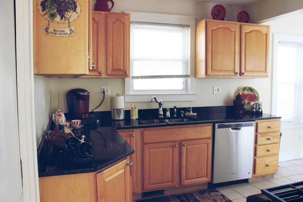 Spacious updated kitchen with lots of cabinet space