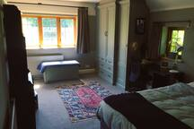 Large comfy room with country views