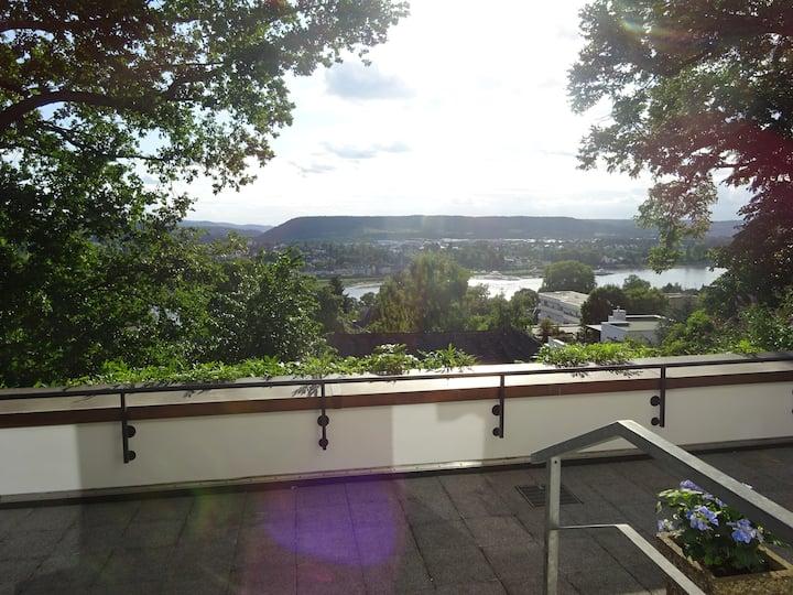 Ferienwohnung mit Rheinblick in Linz am Rhein