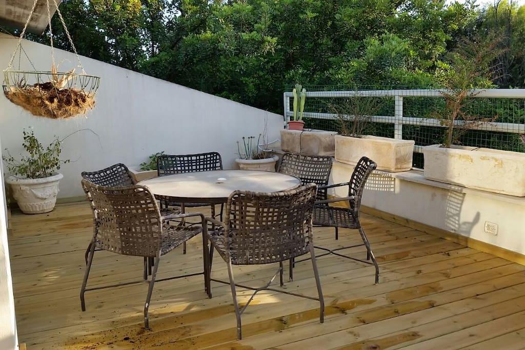 outdoor patio- second floor