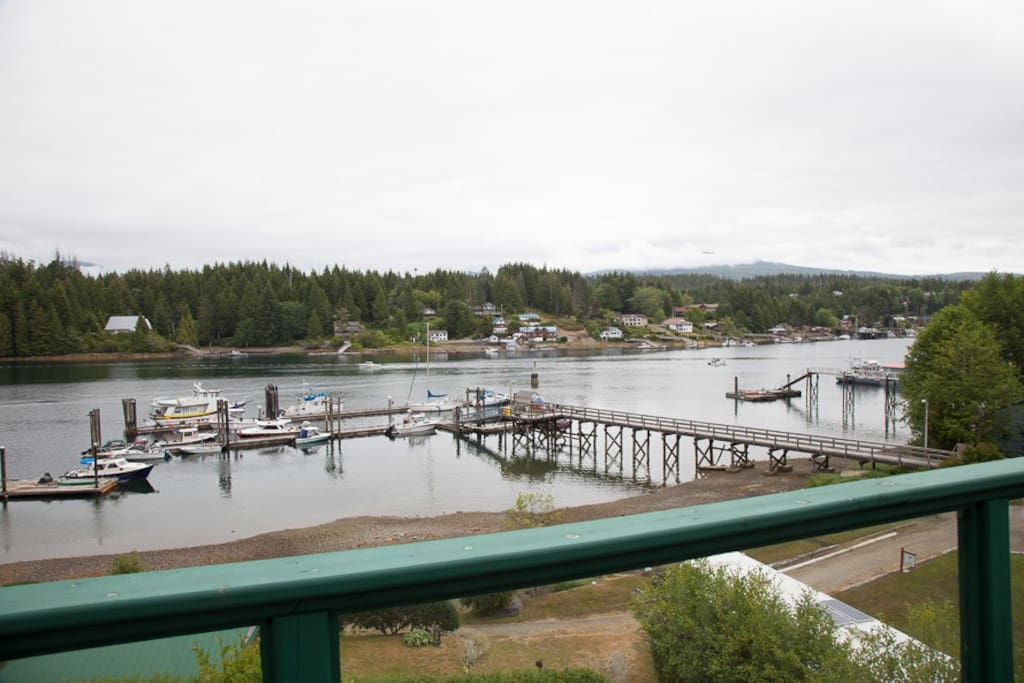 View of the Fisheries Dock from the deck