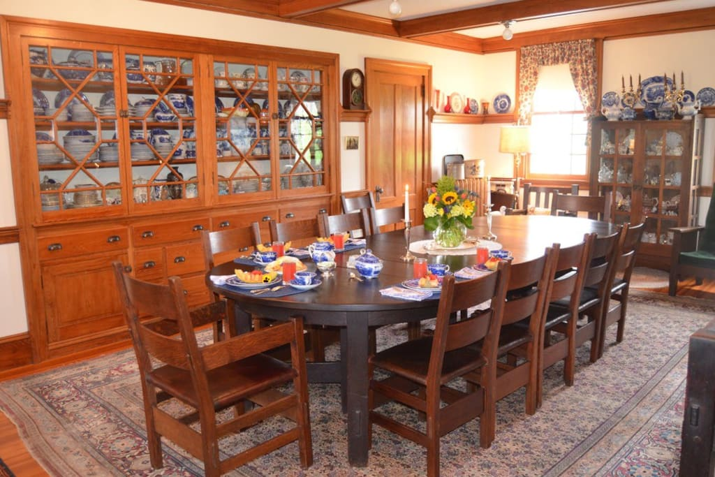 Common dining room where you will be served a continental breakfast each morning of your stay.
