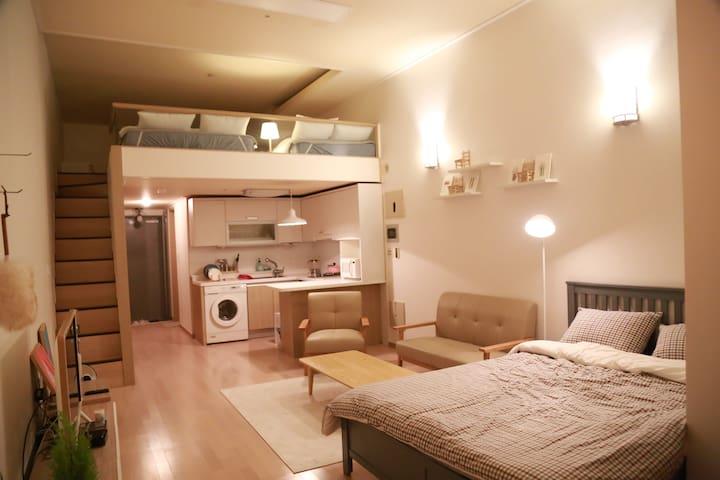 *NEW LOVELY SWEET HOUSE!!(DUPLEX) SEOMYEON - Busanjin-gu - Apartamento