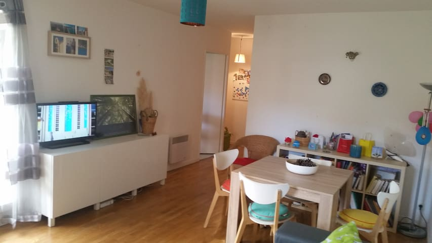 Cosy flat  près de la Seine,  à 10 mins de Paris. - Carrières-sur-Seine - Apartemen
