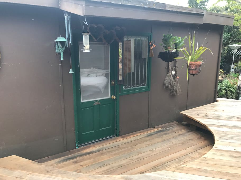 Private entry and patio area