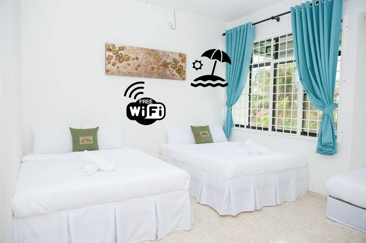 Ibai Beach Guesthouse-FAMILY DELUXE A6