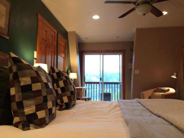 Again, the largest bedroom on upper level, with access to front and rear decks.