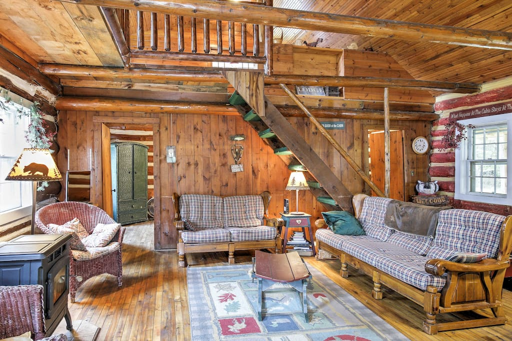 The cabin was originally constructed in 1880 and has retained its rustic charm over the years.