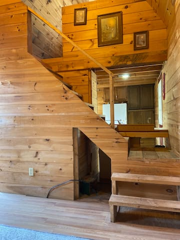 Stairs going to bedroom