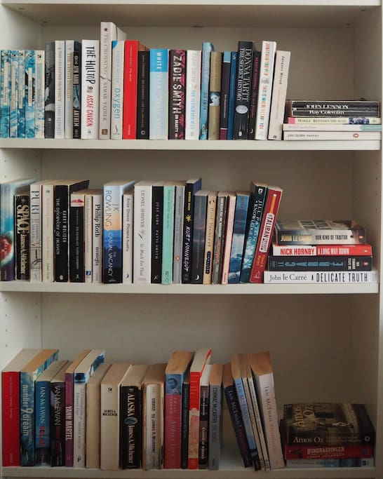 Do you like to read? We have a bookshelf just for you, mostly in english. Take, share and swop.