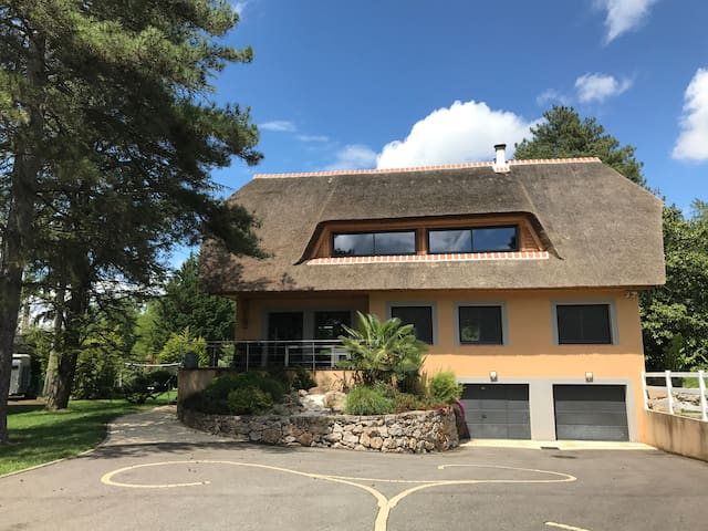 property, near Lyon, spa, warmed swimming pool