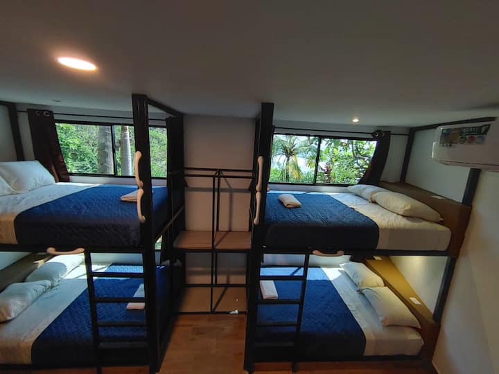 8 Bed Family Dorm with Beach View