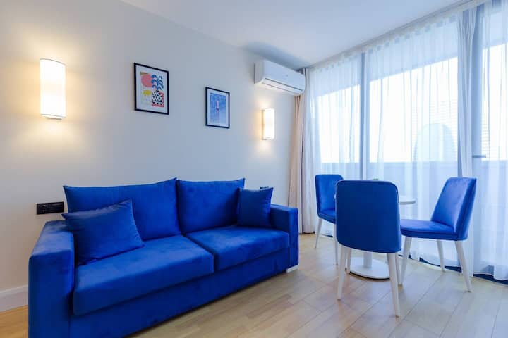 ❀1BR Apt. w/ Sea View & balcony In Batumi❀