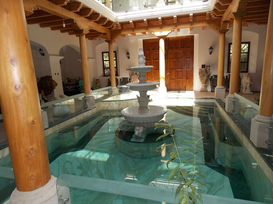 Pool with heated Jacuzzi