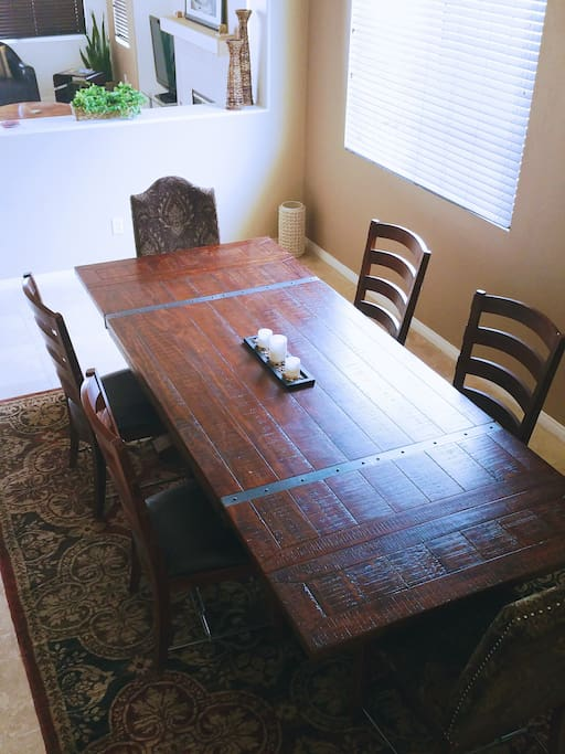 Enjoy a festive dinner in this great spacious dining area