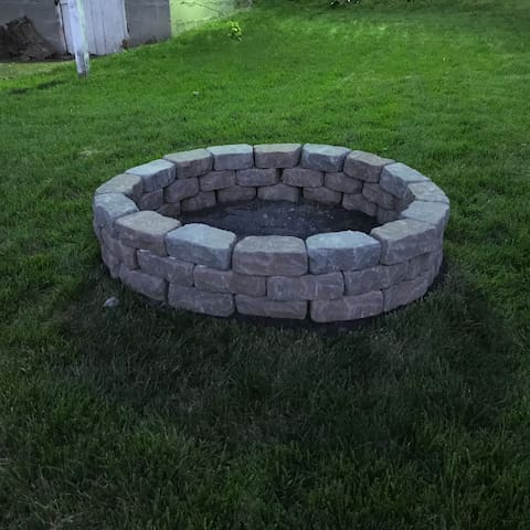Just finished and ready for a roaring fire. How about s'mores?
